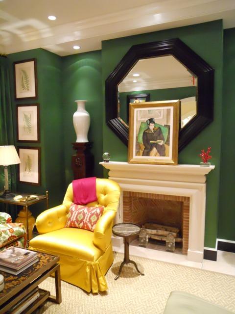 Oscar chair fireplace