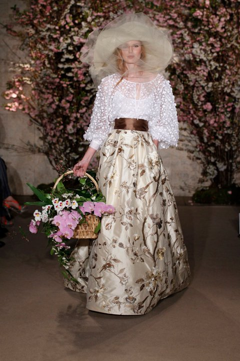 Oscar de la Renta Bridal 2012
