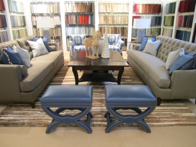 ... Colby Sofa (DS3004 1), Fabric Is 30447 6; Cordoba Swivel Chair (FS456S)  And Tarragona Skirted Chair (FS458), Both In Ikat From Kravet Couture ...