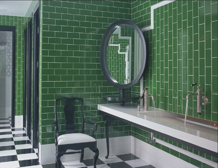 Kelly-wearstler-green-subway-tile-bathroom