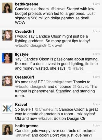 Candice tweets