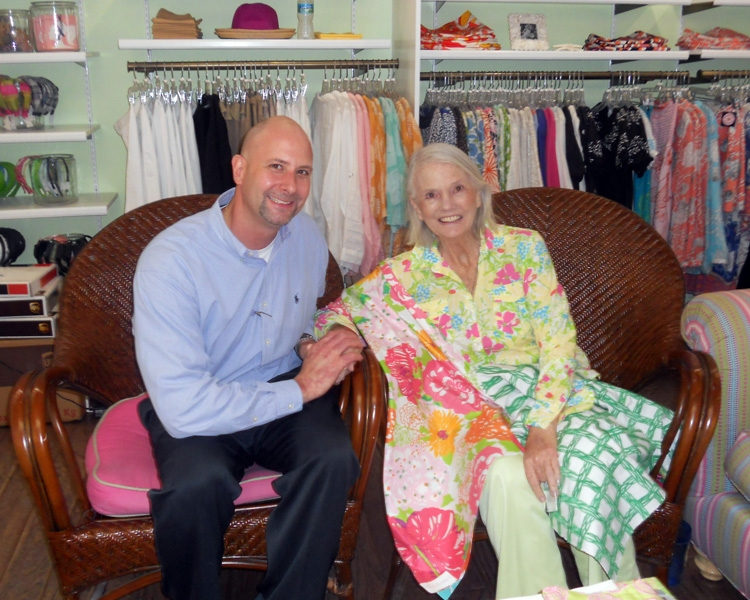 A Recent Photo Of Lilly Pulitzer, Pictured With Kravet Sales Representative  Chris Zitelli.