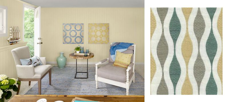 Benjamin Moore room Kravet Couture fabric