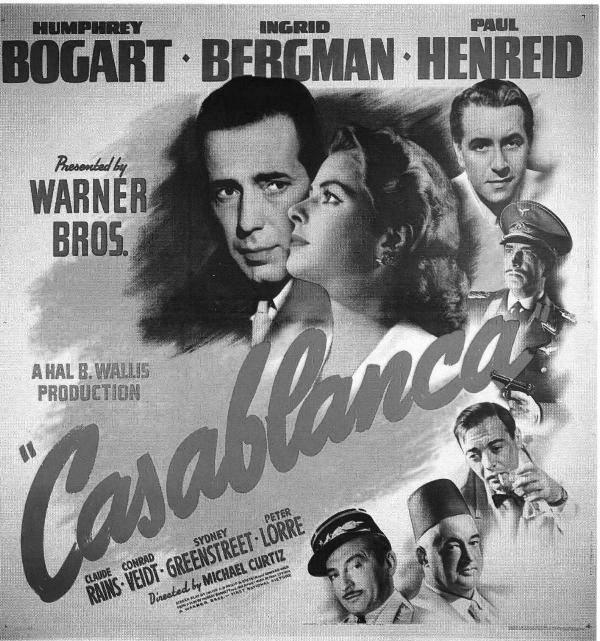 Casablanca poster bw