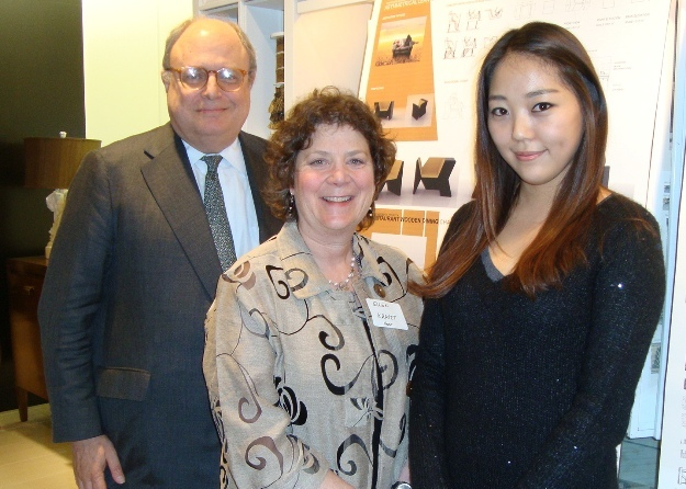 Jim Druckman, Ellen Kravet and New York School of Interior Design Student Starlet  Katie Gyeongee Kil