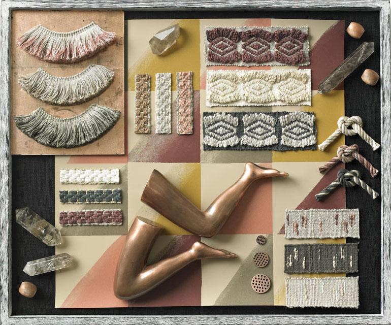 Kelly Wearstler wallpaper trim Lee Jofa tray