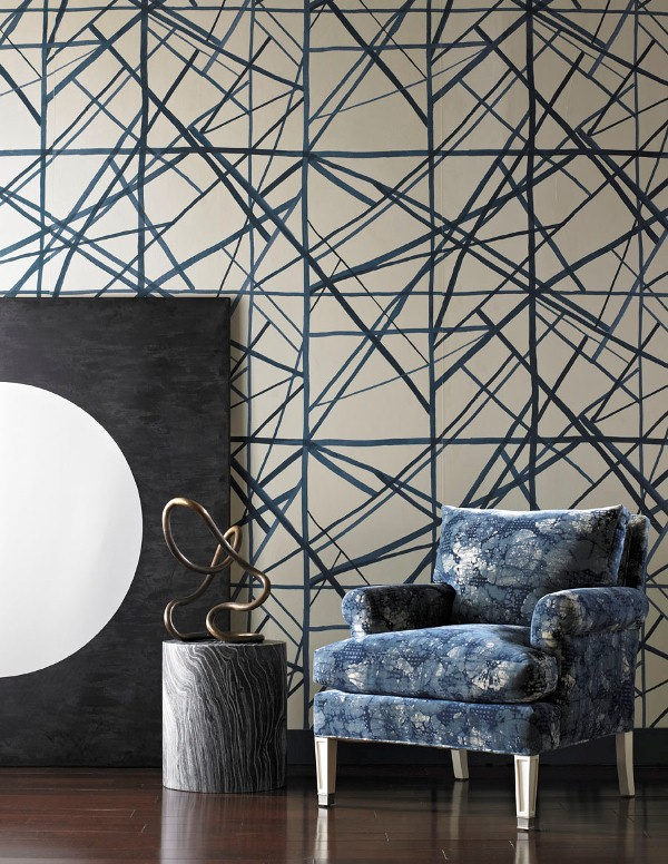 Kelly Wearstler Channels wallpaper Groundworks