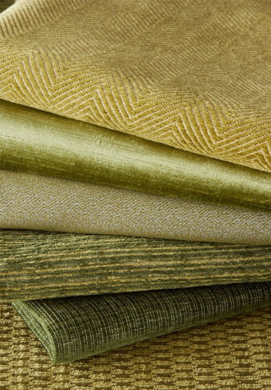 James Huniford Lee Jofa Green Fabric Stack