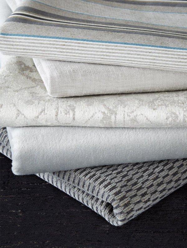 James Huniford Lee Jofa Grey Fabric Stack