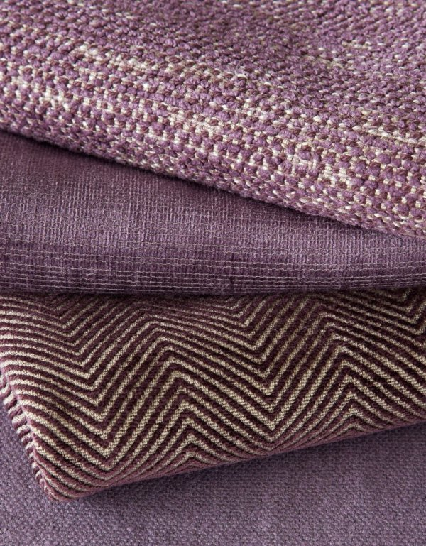 James Huniford Lee Jofa Purple Fabric Stack