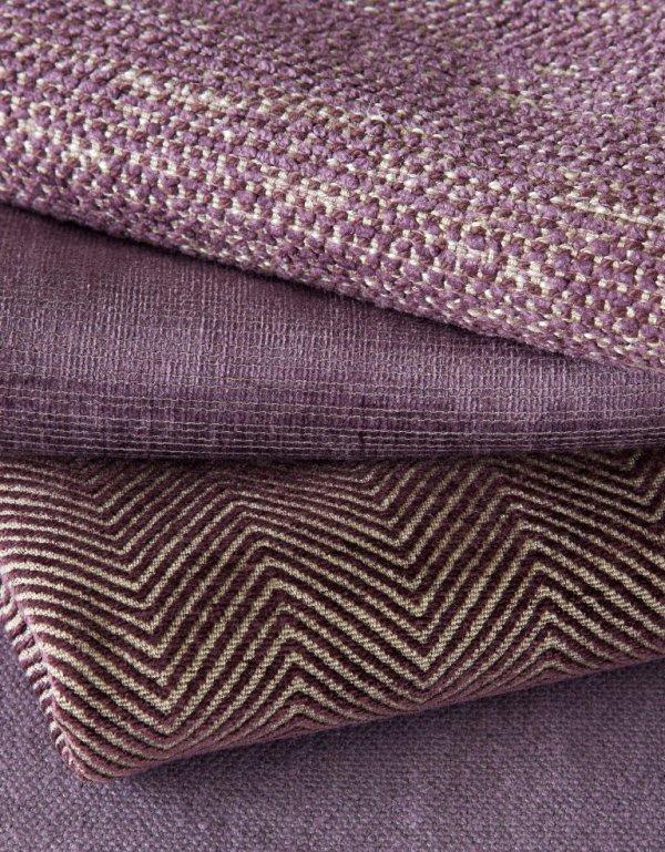 James Huniford Lee Jofa Purple Fabric Stack